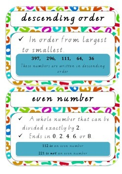 Maths Dictionary - Number & Place Value