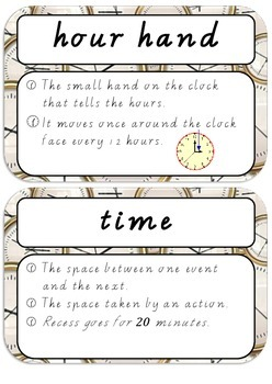 Maths Dictionary - Time