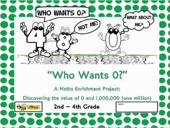 """Maths Enrichment """"Who Wants 0? Discovering the value of 0 and 1 million."""""""