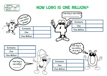 "Maths Enrichment ""Who Wants 0? Discovering the value of 0 and 1 million."""