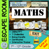 Math Escape Room Number sequence Problem Solving