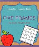 Maths Express Blank Five Frames