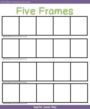 Maths Express Blank Five Frames