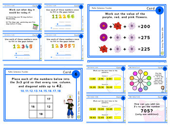 Maths Extension Task Cards: Grade 5 - 6 SAMPLE