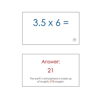 Maths Flash Cards With Cool Facts