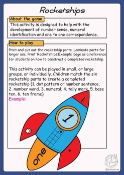 Maths Game: Rocketships, number sense activity numbers 1-30