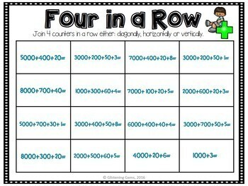 Number Sense Game Numbers 1 000 - 10 000