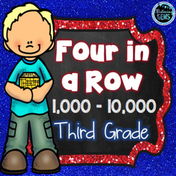Four in a Row Game -  Numbers 1 000 - 10 000