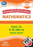 Maths Games: It all adds up – Multiple addends – Year 1