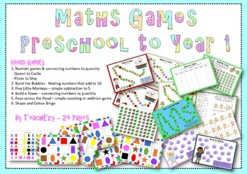 Maths Games Preschool to Year 1
