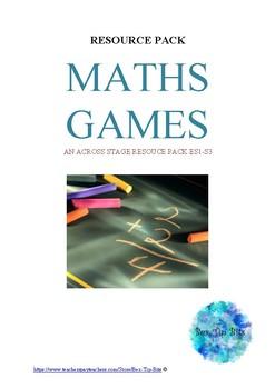Maths Games Resource Pack