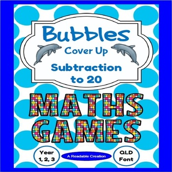 Maths Games - Subtraction to 20 {Australian Version - QLD Font}