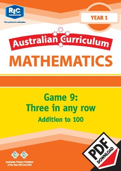Maths Games: Three in any row – Addition to 100 – Year 1