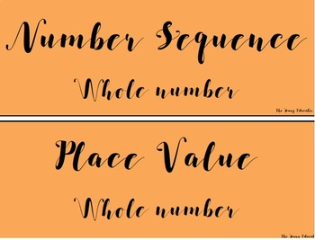 Maths Games Tubs Labels