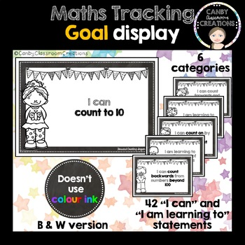 Maths Goals (Student Tracking) Black & White Version