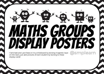 Maths Groups Display Posters