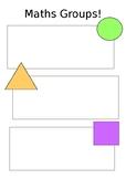 Maths Groups Poster