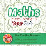 Maths Help Sheets Year 3&4