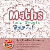 Maths Help Sheets Year 7 & 8