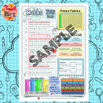 Maths Help Sheets Year 5&6