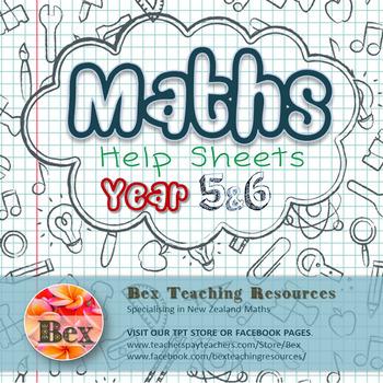 Maths Help Sheets Year 5&6 by Bex | Teachers Pay Teachers