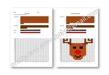 Maths Hidden Picture Co-ordinates Activity Christmas Reindeer