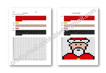 Maths Hidden Picture Co-ordinates Activity Christmas Santa
