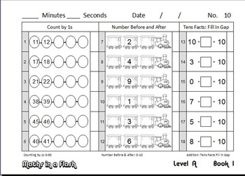 Maths In A Flash: Daily program for number fact skills. Level A—1st Grade / Prep