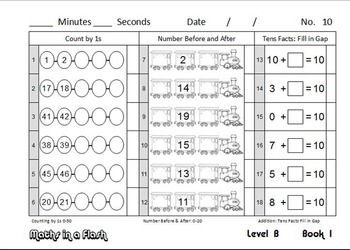 Maths In A Flash: Daily program for number fact skills. Level B—2nd Grade/Gr.1