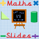 Maths Whiteboard Teaching Slides (Fractions, Place Value, Algebra and much more)