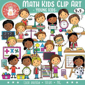 Math Kids Clip Art – YOUNG KIDS