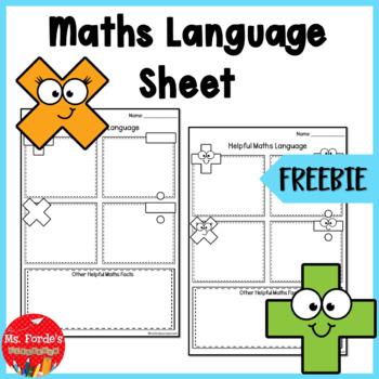 Maths Language Template