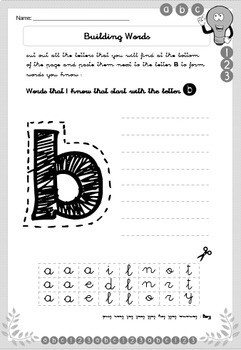 Maths & Literacy Extra Activities - Kindergarten & Grade 1 - Printable