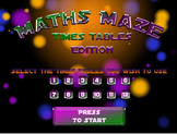 Maths Maze Multiplication Computer Game