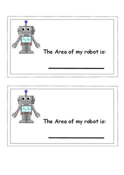 Maths-Measurement- AREA ROBOTS