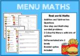 Maths Menu - Working with Money!