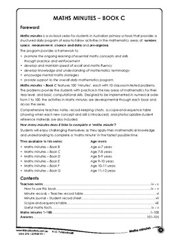 Maths Minutes - Book C - Ages 7-8