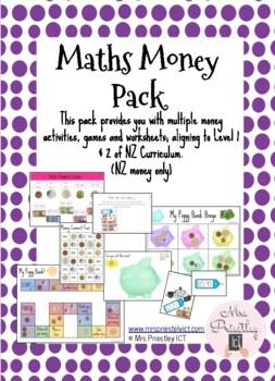 Maths Money Pack - $NZ Dollars only