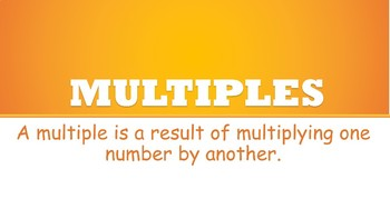 Maths- Multiples Poster