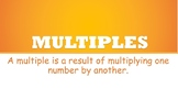 Maths- Multiples Poster