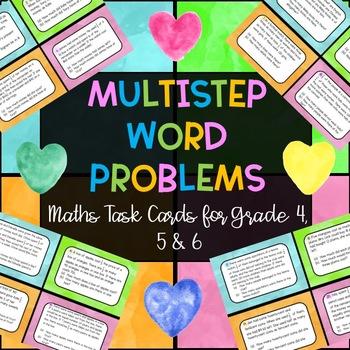 Maths - Multistep Problem Solving Word Problems Task Cards