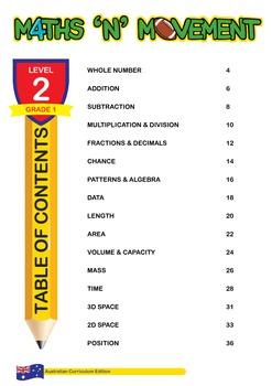 Physical Education Maths Games & Lessons - Year 1 / Level 2 Bundle (Australian)