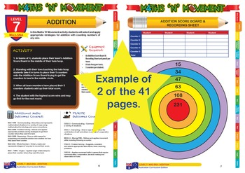Physical Education Maths Games & Lessons – Year 6 / Level 7 Bundle (Australian)