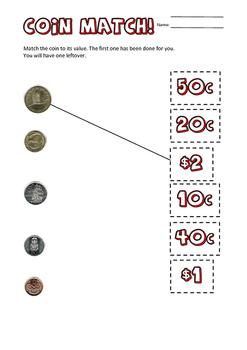 Maths - NZ Money coins worksheets
