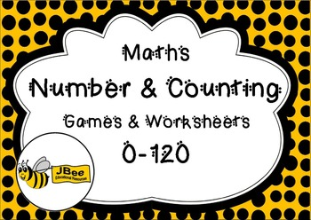 Maths Number & Counting 0 - 120 Games & Worksheets