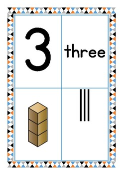 Maths Numbers 1-20 Display in four different ways