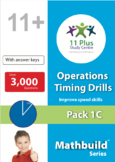 Maths Operations Timing Drills - Pack 1C