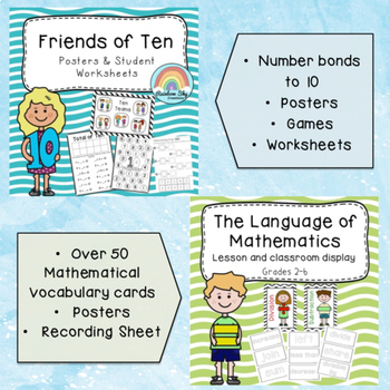 Maths Pack Bundle { No PREP } K - Year 2
