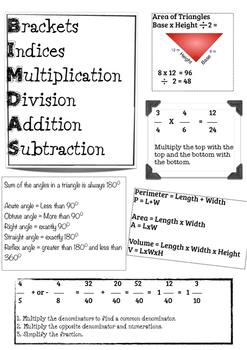 Maths Placemat