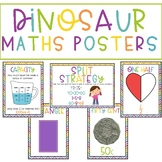 Maths Posters Rainbow Dinosaur Decor